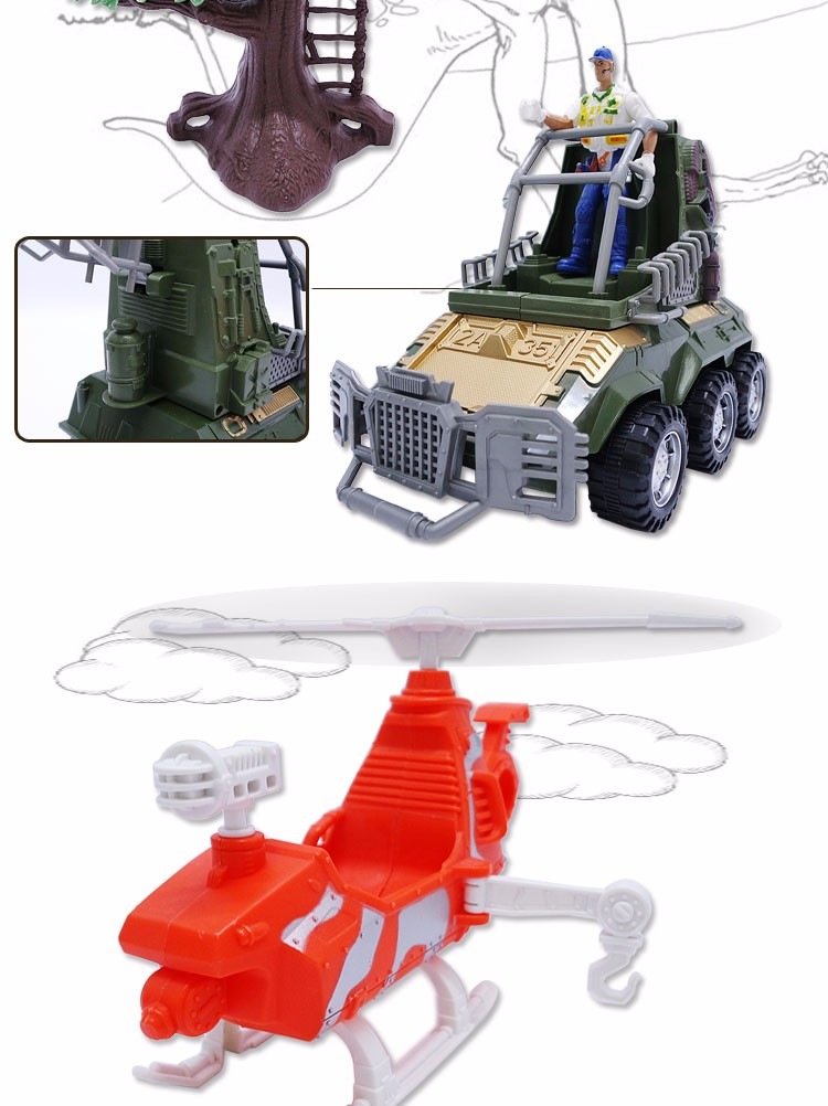 Hot selling children mechanical dinosaur toy set