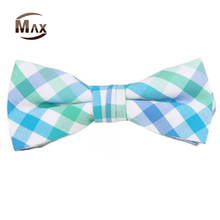 New Fashionable Cotton Plaid boys Bow Tie for Decoration