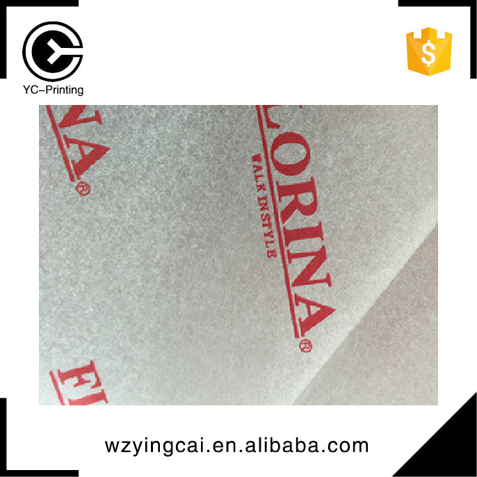 Decorative cardstock clothing luxury brand logo tissue paper