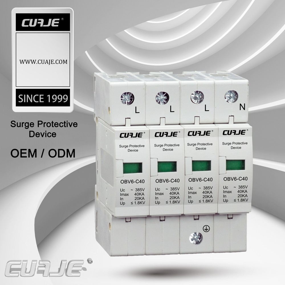 CE approved 60kA surge lightning arrestor,power surge protection SPD
