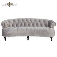 alibaba China supplier victorian sectional wooden sofa