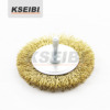 Hot Sale KSEIBI Crimped wire wheel brush with shank of 6mm