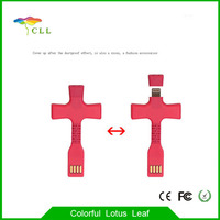 Both Sided Mini Cross Key-Chain USB Type Charger Cable