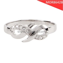 Stainless steel ring expressing Endless love infinity love ring to mother of polishing surface and Cube Zircon
