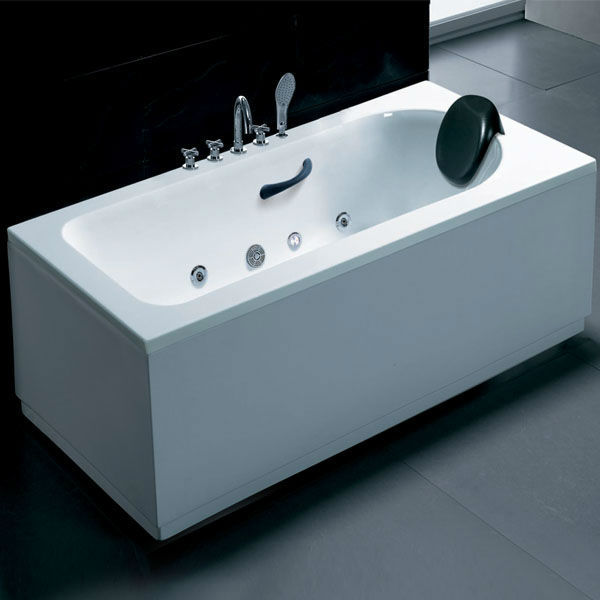 Hot Sale White Acrylic Whirlpool Massage Small Sitting Bathtub