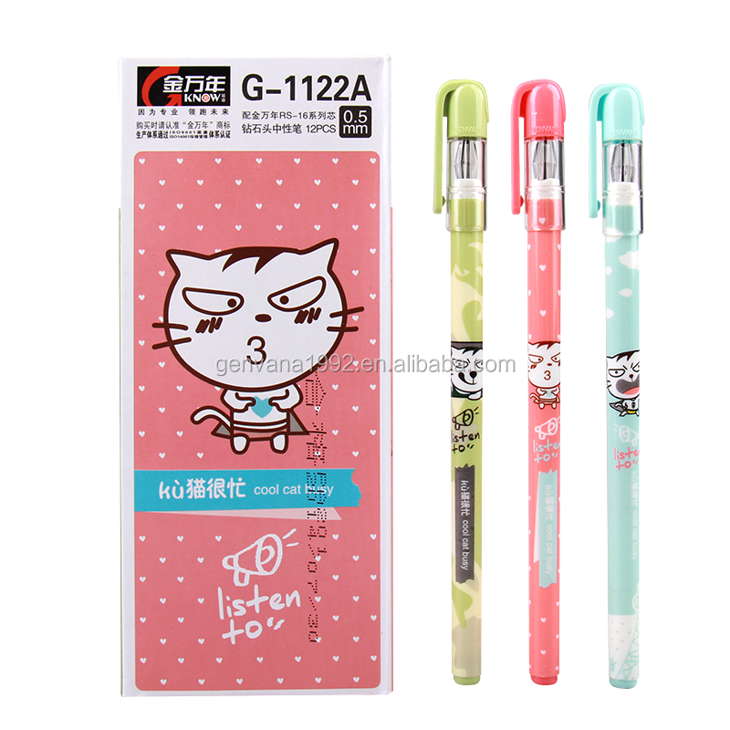 G-1122A Fancy office supplies and stationery korea gel pen with diamond needle tip