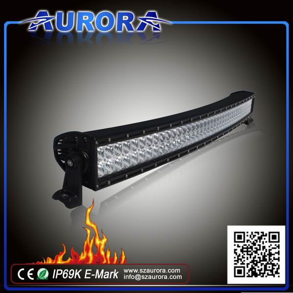 ECE R112 approved AURORA 10inch curved LED light bar