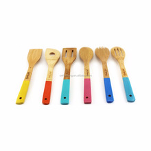 Kitchen bamboo ware with color handle/Xmas Huafeng kitchen ware