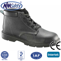 NMSAFETY middle cut safety shoes leather work shoes china warehouse shoes