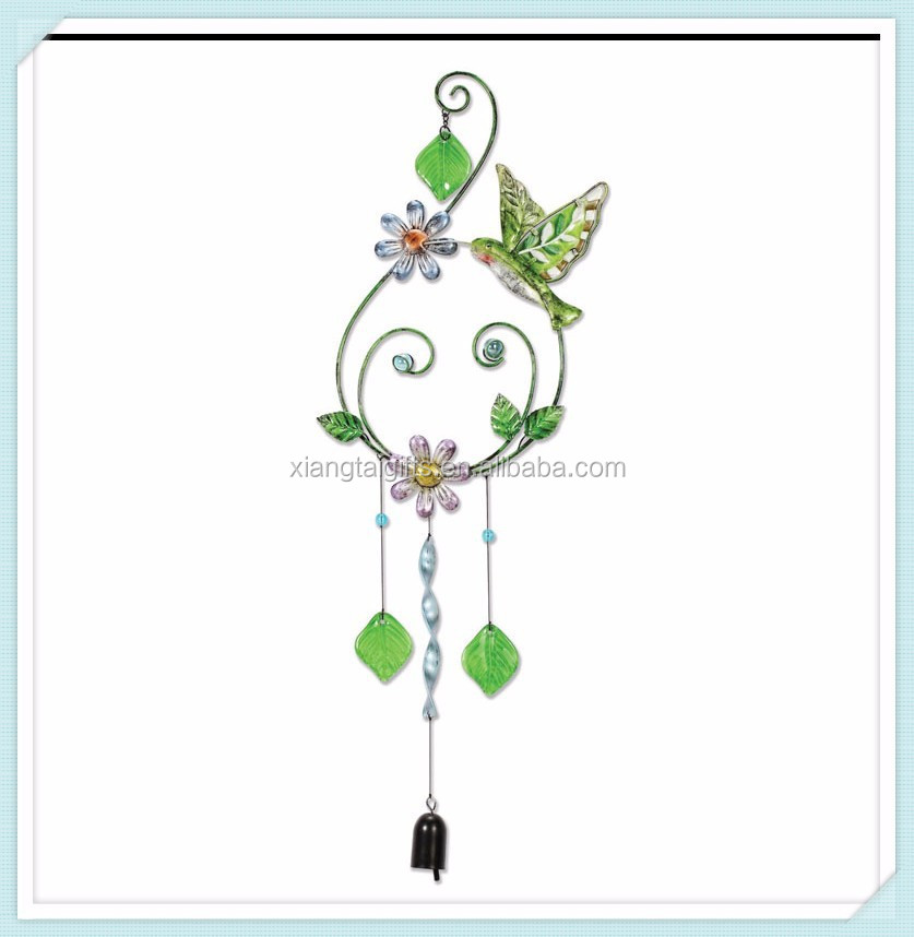 Colorful metal garden hanging wind chime