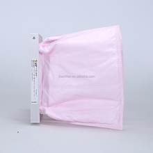 Hot Sale F5- F9 Fiberglass Bag Filters Medium Material Pocket Paper For Industrial Clean Air Purifier Filter
