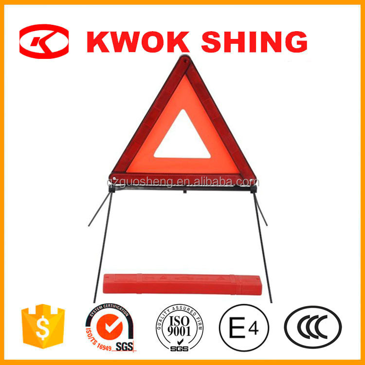 Emergency items red car safety kit accessory, roadway safty sign