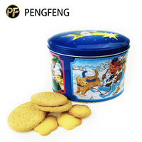 Big food tin container,biscuits metal packaging box,biscuit tin