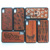 Wooden Carved Cover For iPhone X Engraving Custom Design Real Rosewood Wood Phone Case Cute Pattern for iPhone 10