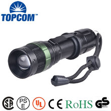 Aluminum 3 Watt LED High Power Flashlight with Clip