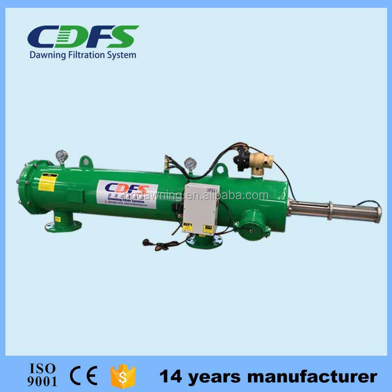 Automatic screen self-cleaning filter for agriculture irrigation