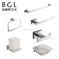 Zinc alloy chrome bathroom accessories set
