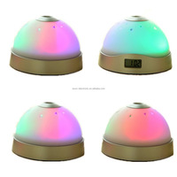 Magic Moon & Stars Projection Projector Silent Alarm Clock 7 Color Change LED Night Light For Christmas Holiday