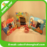 3d customized rubber education baby children picture frame