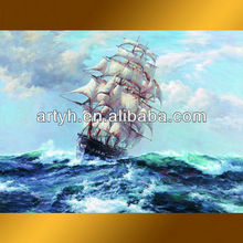 reproduction boat oil painting on the ocean painting for decor