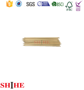 250mm disposable food grade birch bamboo wooden skewers