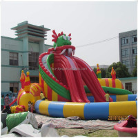 Hot-selling kids and adults big customized dragon water slide/Inflatable water slide for sale