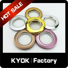 KYOK Durable Self-Locking Plastic Curtain Rod Eyelets, ABS Curtain Pipe Eylets Professional Suppler in Foshan