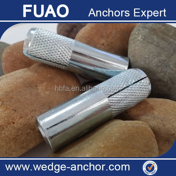 HARDWARE FASTENER DROP IN ANCHOR INTERNALLY THREADED ANCHORS M8 STEEL KNURLING OR WITHOUT KNURLING