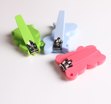 cartoon kids silicone safe cute nail clipper