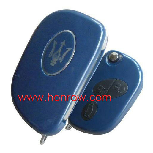 Cheap Maserati 3 Button remote key shell blank for fiat flip remote key