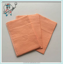 13'x18' 1-ply paper+ 1-ply poly ORANGE dental bib/dishwashing gloves