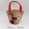 Hot selling handmade promotional christmas felt bag for gift and decoration