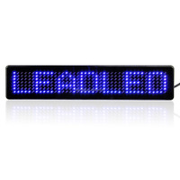 Small Size Programmable Message Car Sign Wholesale Blue Color Car Led Display Screen