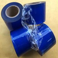 Transparent PVC film electrostatic cling protective film Blue color pvc static film
