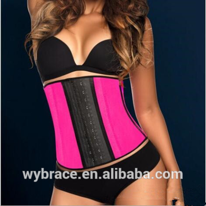 2017 China supplier rubber slimming body latex waist trainer and waist cincher rubber coset