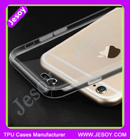 JESOY Super Thin Crystal Clear TPU Cell Phone Case For iphone 6s Cover Case Transparent