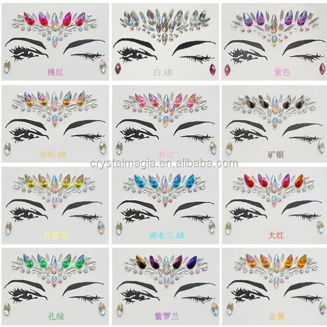 Face Jewelry Face Jewels Sticker Face Jewels Makeup Sticker