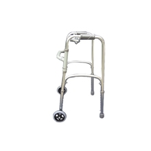 Folding handicap aluminium alloy colored walkers with four wheels