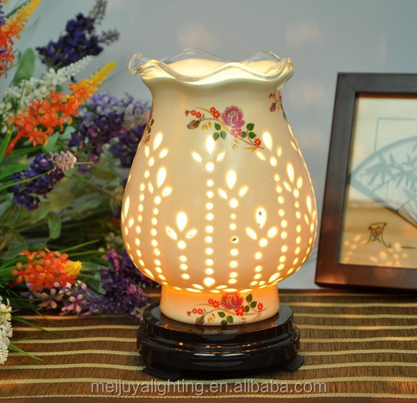 wholesale mini ceramic oil lamps oil burner vase oil burner /modern family life aroma stove TC048