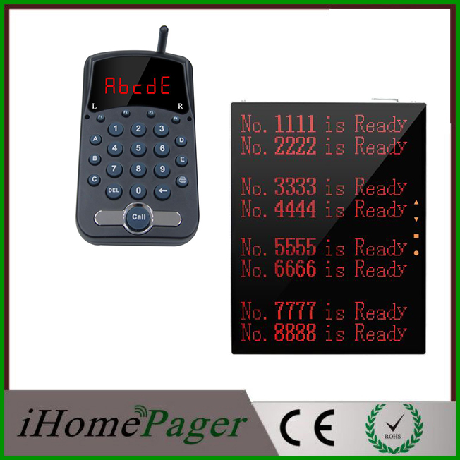 New design customised support show 8groups of numbers queue calling display