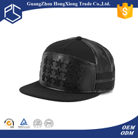 Promotional fancy mens hats and caps mens leather snap back caps