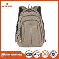 Stylish Custom Logo Casual Canvas Leisure School Laptop Backpack Bag/.