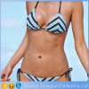 Sexy Summer Striped Bikini Set Underwear Woman Thong Ultra Thin Mini Bikini Swimwear