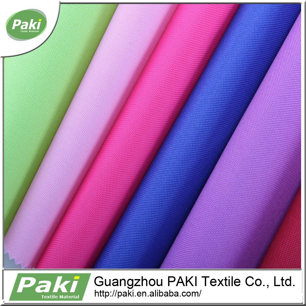 600d plain oxford fabric 100% polyester fabric PU coated for backpack