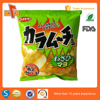 FDA approved plastic potato chips bag with custom logo design printing