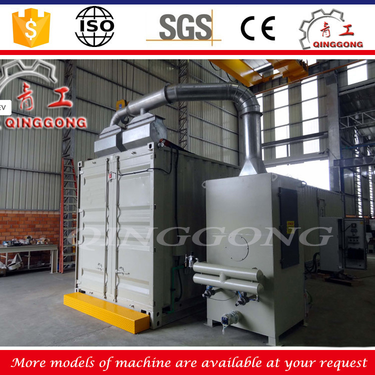 Mechanical recovery type air blast room oil tank truck sandblasting booth