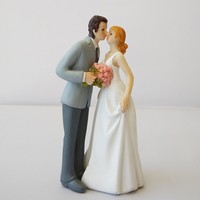 New product Wedding party & Wedding Decoration Attraction of love Bride and Groom Couple Figurine wedding cake topper