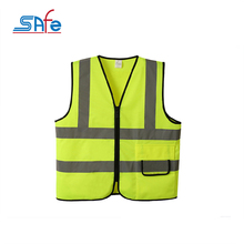 Custom horse riding safety reflective high visibility CE vest for running