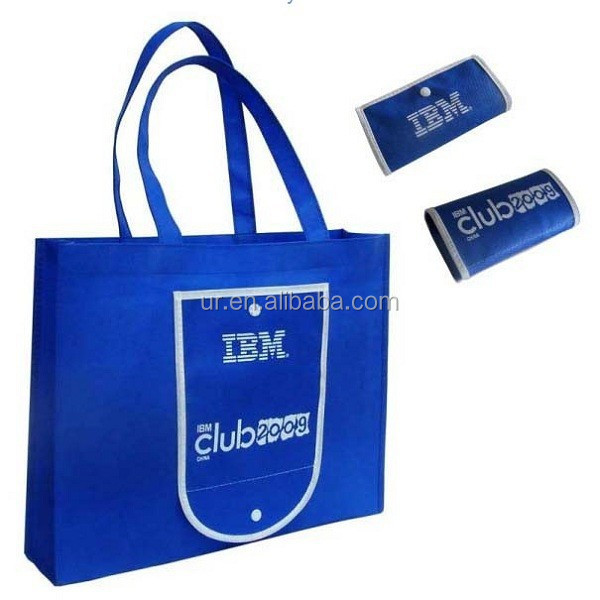 TOTE BAGS Non-Woven Shopping Travel Promotional Royal Blue