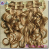 Alibaba Remy Unprocessed No shedding no tangle remy double wefted clip in hair extension 220 grams